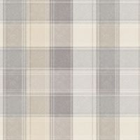 Arthouse Country Check Tartan Pale Grey 901902