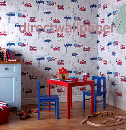 wallpaper london scene. White Wallpaper Red and Blue
