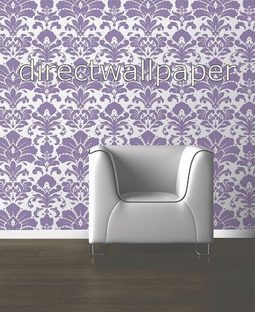 wallpaper purple and silver. Muriva Opula Purple 108104