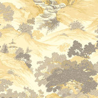 Crown Oriental Landscape Yellow M1192