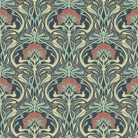 Crown Flora Nouveau Peacock Green William Morris Wallpaper M1196