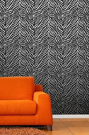 black and white zebra print background. Debona Masai Black White Zebra