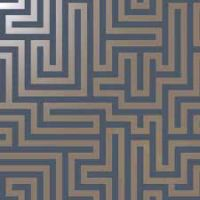 Holden Decor Glistening Maze Navy Blue / Metallic 12913