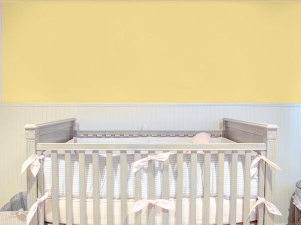 plain lemon yellow smooth nursery wallpaper 45980