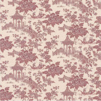 Chinese Oriental Raspberry Toile de Jouy 51143010