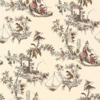 Chinese Oriental Brown Toile de Jouy 51143107