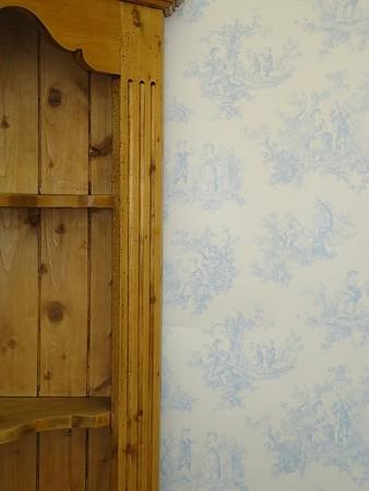 Provencale Baby Blue Toile De Jouy Wallpaper 6122