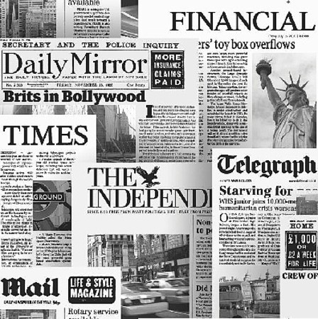 Illusion Newspaper Headlines White Black Wallpaper 20600