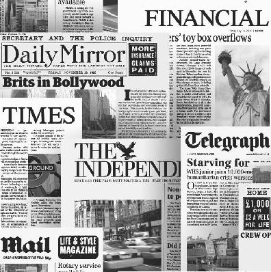 Newspaper modern newsprint headlines smooth wallpaper for Arthouse jardin wallpaper