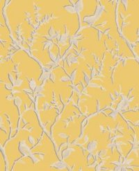 Super Fresco Easy Laos Trail Birds Yellow 104124