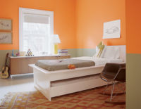 Plain Tangerine Wallpaper YH17909