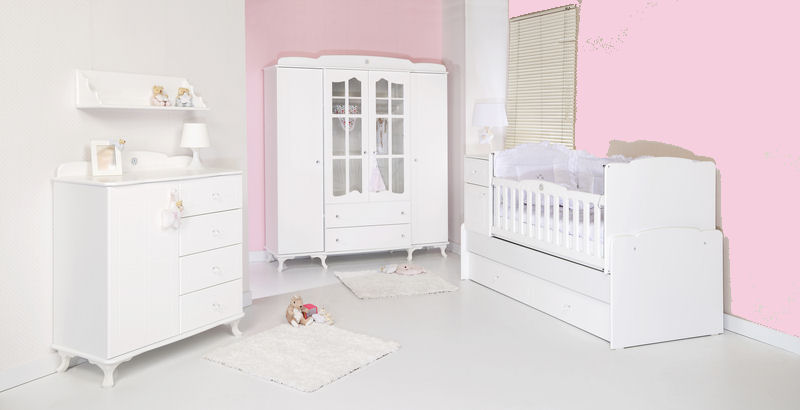 Amelia Plain Baby Pale Pink Nursery Wallpaper 45981